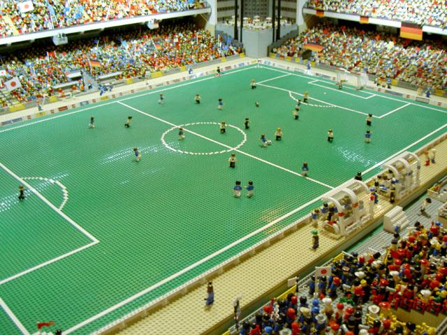 レゴサッカースタジアム全体像