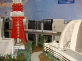 東京タワーと東海道新幹線700系