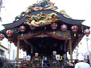屋台 子供歌舞伎の上演