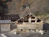 源泉の小屋