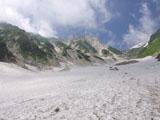 大雪渓ケルン