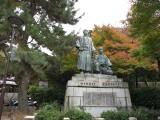 円山公園 坂本龍馬と中岡慎太郎像