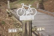 自転車の目印