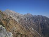 前穗高岳と明神岳