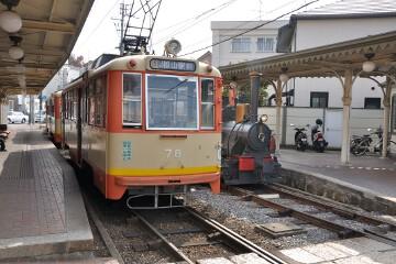 モハ78号と坊ちゃん列車