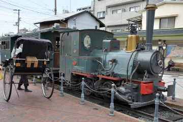 坊ちゃん列車と人力車