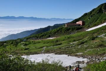 雲海と千畳敷カール