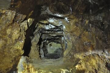 採掘の跡地